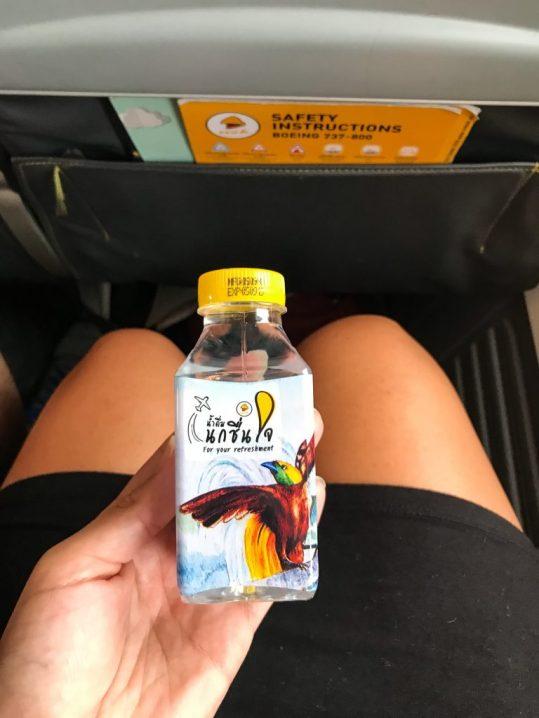 Water on Nok Air flight Chiang Mai to Bali