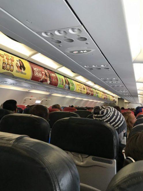 Inside the AirAsia plane