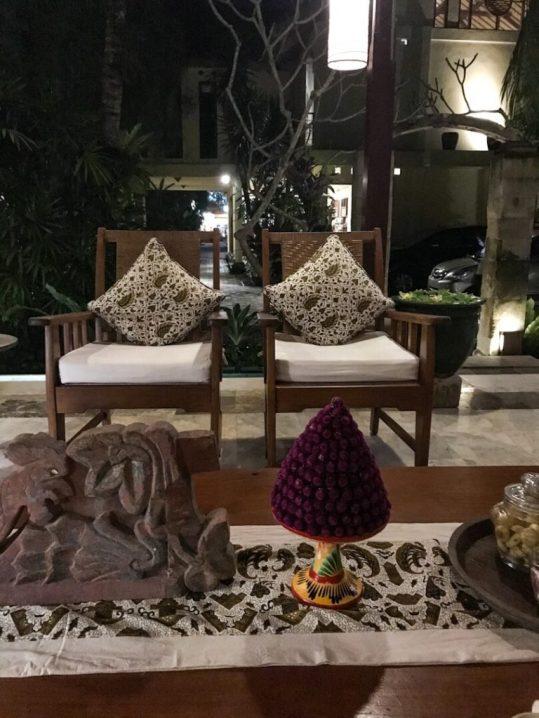 Lobby of the Komaneka at Monkey Forest Resort in Ubud, Bali Indonesia