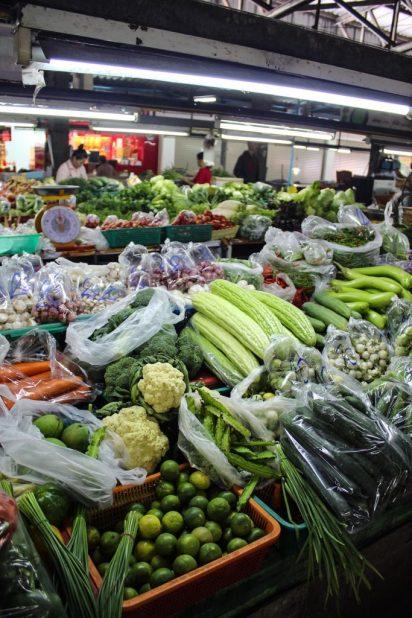 Produce at the Chiang Mai market
