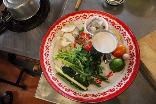 Ingredients for my Tom Kha