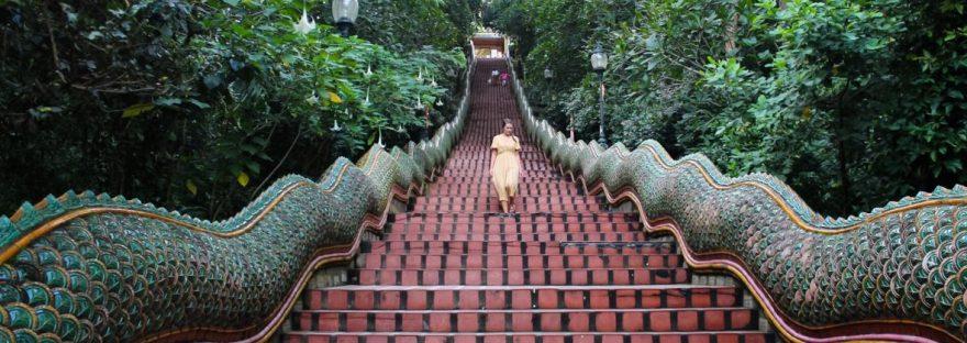 Walking the Naga Staircase at Wat Phra That Doi Suthep