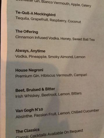 Watercress drink menu ubud bali