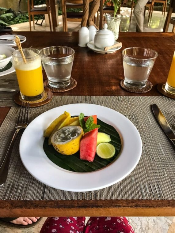 Breakfast at Komaneka at Monkey Forest Ubud Bali