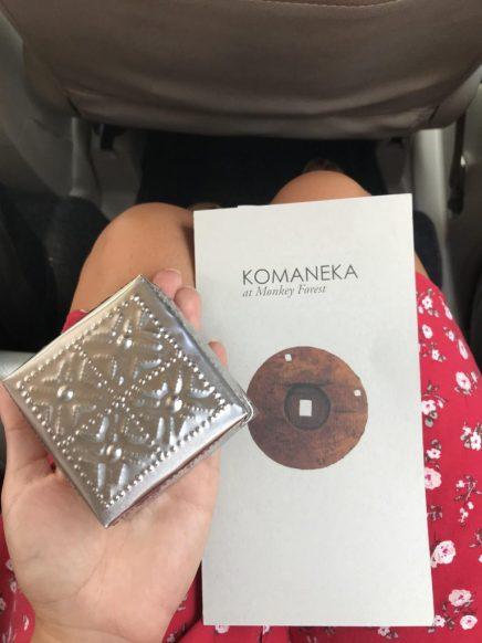 Gift from Komaneka at monkey forest ubud bali