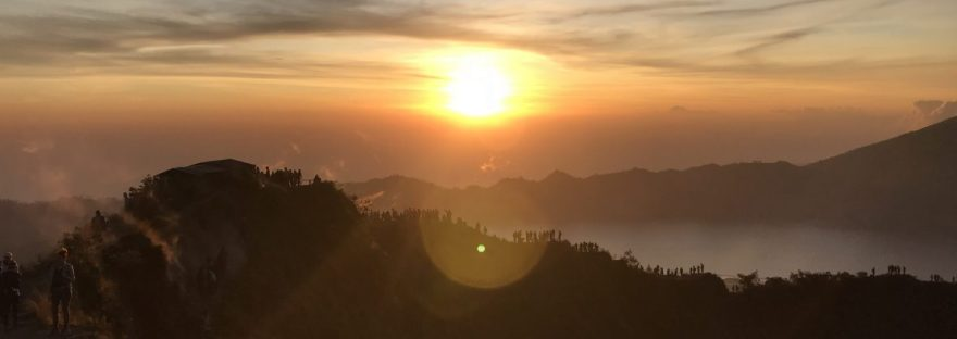 Sunrise at the top of Mount Batur