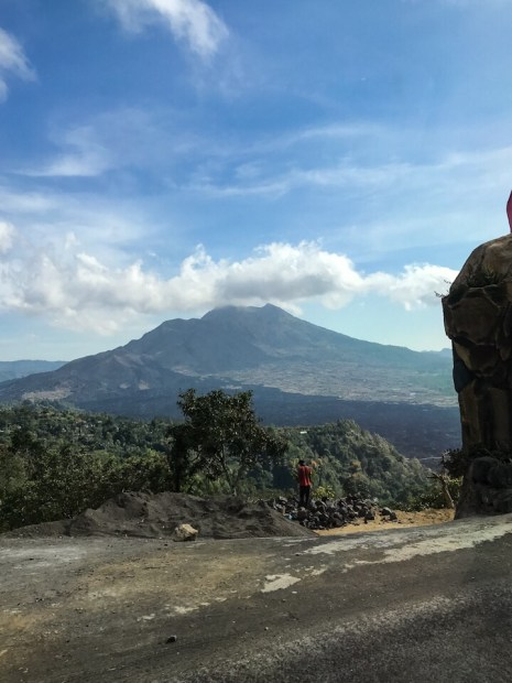 View of Mount Batur from the car