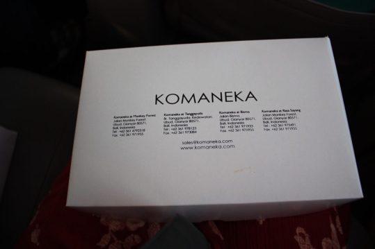 Boxed breakfast from Komaneka at Monkey Forest in Ubud, Bali