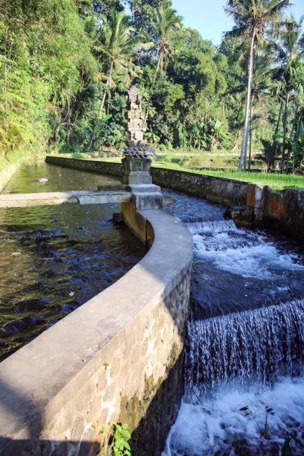 Pakerisan river that runs through Gunung Kawi ubud bali