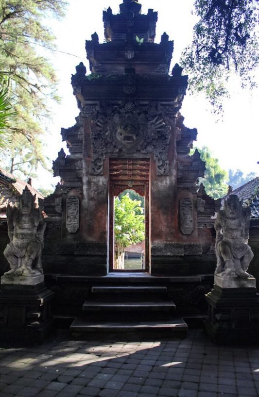 Entrance to the Holy Springs Tirta Empul Ubud Bali