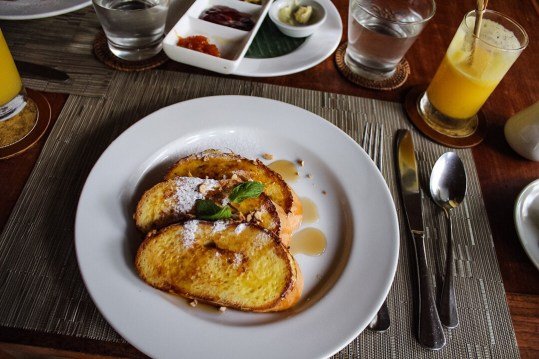 French toast at Komaneka at Monkey Forest Ubud Bali