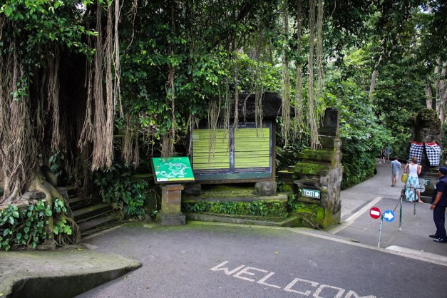 Entrance to the monkey forest in Ubud, Bali
