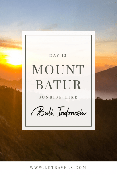 Read this post before hiking Mount Batur at sunrise. Comprehensive details of the entire hike including what you should wear. It's a tough adventure, but totally worth it. | #bali #hiking #indonesia #mountbatur #sunrise #ubud #seminyak