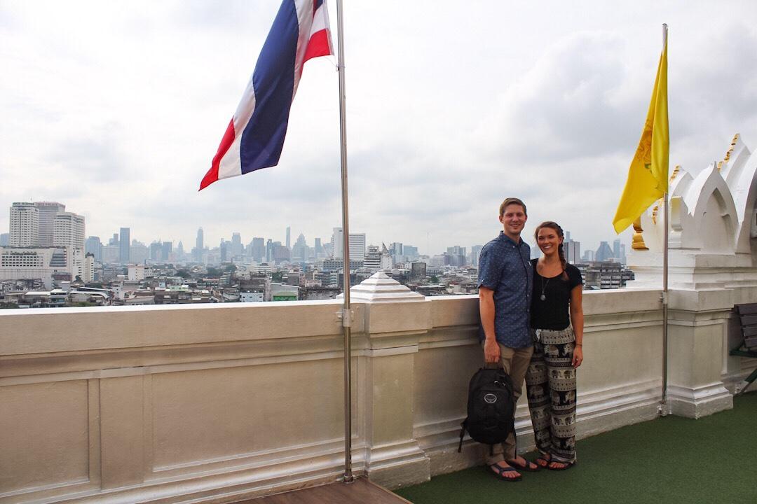 View from Wat Saket in Bangkok