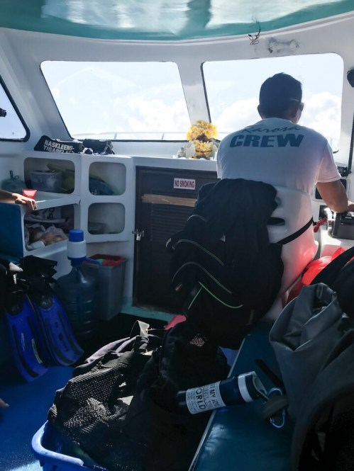 The captain of our boat going out to Nusa Penida