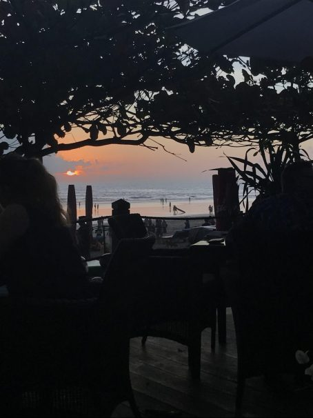 Sunset at Chez Gado Gado Seminyak Bali