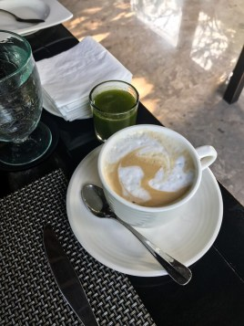 Latte at The Amala in Seminyak, Bali