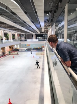 Ice rink in to CentralWorld in Bangkok Thailand