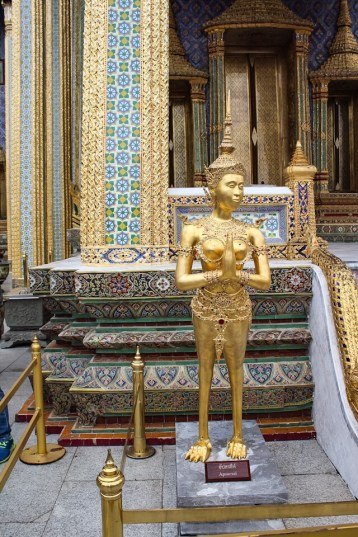 Details of the temples inside The Grand Palace in Bangkok, Thailand