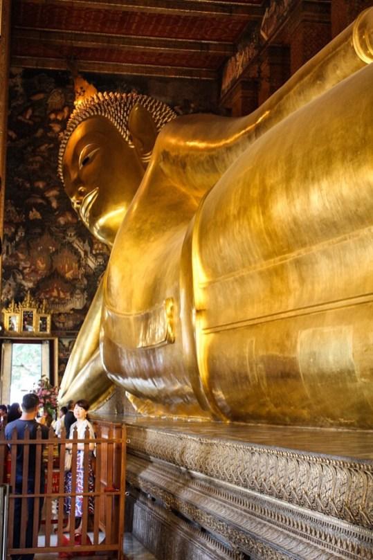 Reclining Buddha at Wat Pho in Bangkok Thailand