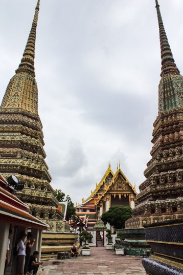 Statues around Wat Pho in Bangkok