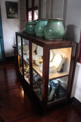 Items inside the house at the Bangkokian Museum in Bangkok Thailand