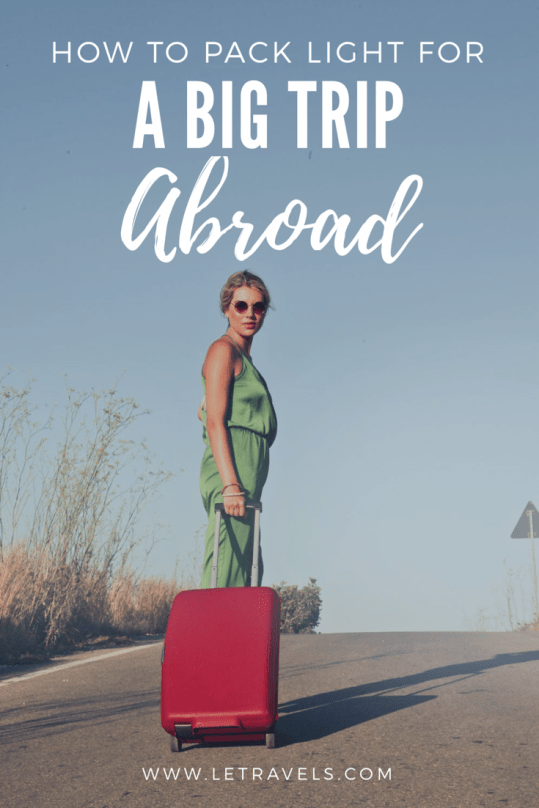 Packing light may seem impossible, but the first time you accomplish this you'll never look back | #travel #packing #howtopacklight #packinglight #backpacking