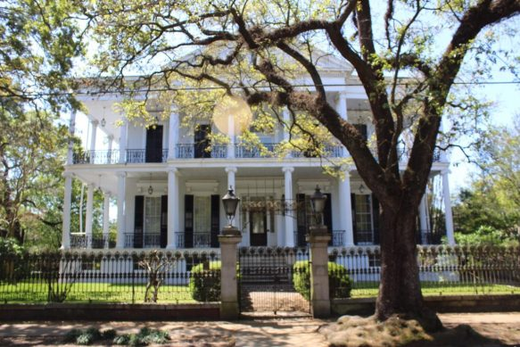 Buckner Mansion in the Garden District in New Orleans