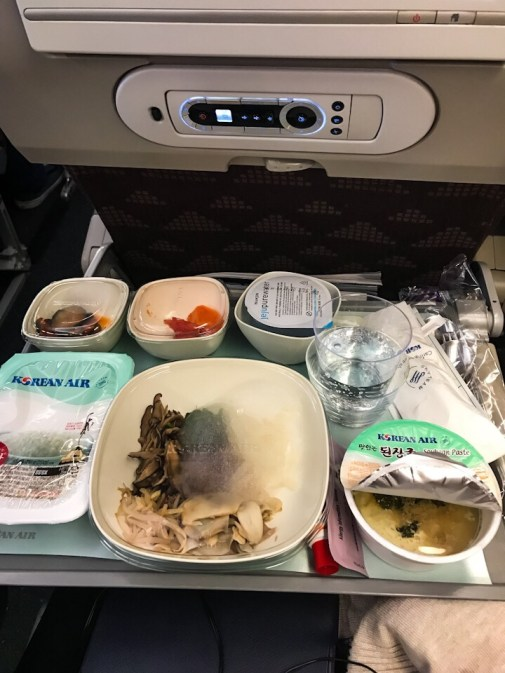 Meal on Korean Air flight from Bangkok to Seoul