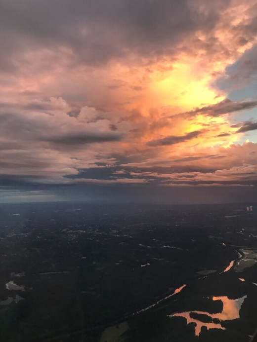 Sunset as we arrived in Atlanta