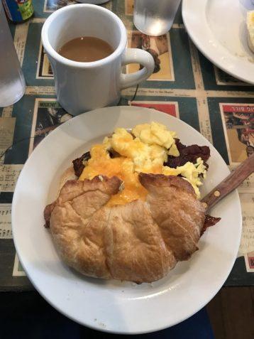 Breakfast sandwich at Surrey's Uptown in the Garden District of New Orleans