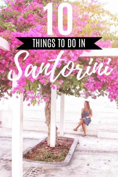 Things to do in Santorini, Greece | #santorini #greece #travel #santorinitravelguide