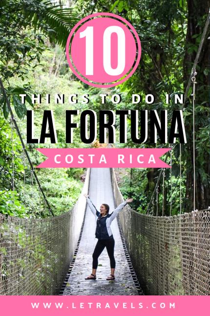 La Fortuna, Costa Rica | 10 Things to do in La Fortuna | See sloths, hike in a rainforest, cook delicious Costa Rican food | #costarica #lafortuna #travelguide
