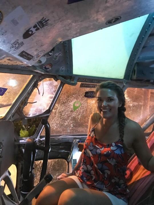 Inside El Avion in Manuel Antonio Costa Rica