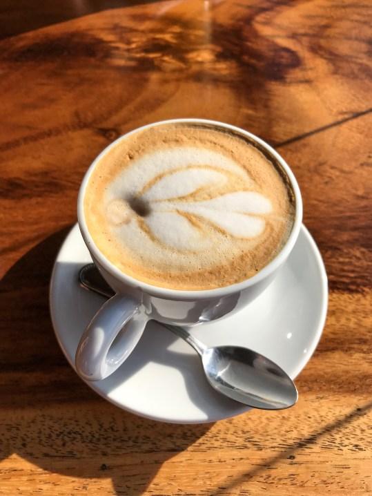 Latte at Emilio's Cafe Manuel Antonio Costa Rica