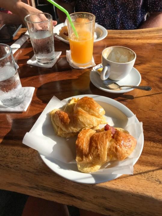 Breakfast sandwich at Latte at Emilio's Cafe Manuel Antonio Costa Rica