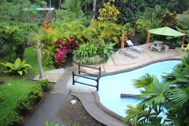 The pool at our Airbnb in La Fortuna, Costa Rica