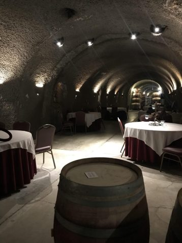 Wine caves at Eberle Winery in Paso Robles California