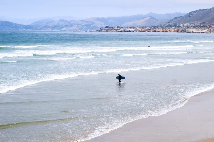 Surfer at Pismo Beach California