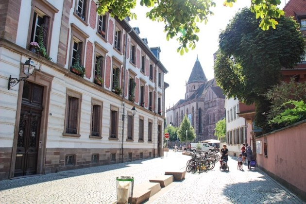 Walking through Strasbourg, France
