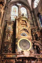 Astronomical clock inside the cathedral notre dame de strasbourg