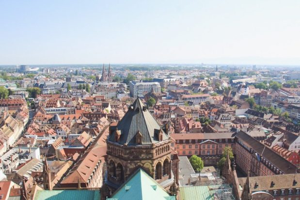 View from the Cathedral Notre Dame in Strasbourg, France