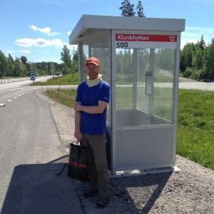 Väntar på bussen