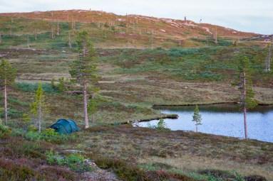 Tältplatsen på Gråsjövalen