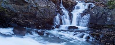 Vattnet faller i Kaitumjåkka