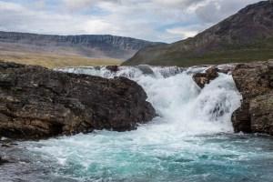 Det lilla vattenfallet i Kaitumjåkka