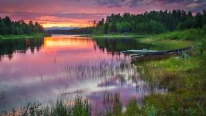 Kvällshimmel över Jäkkvik