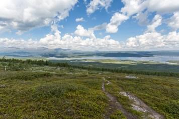 Utsikt över Tjieggelvas från Barturtte
