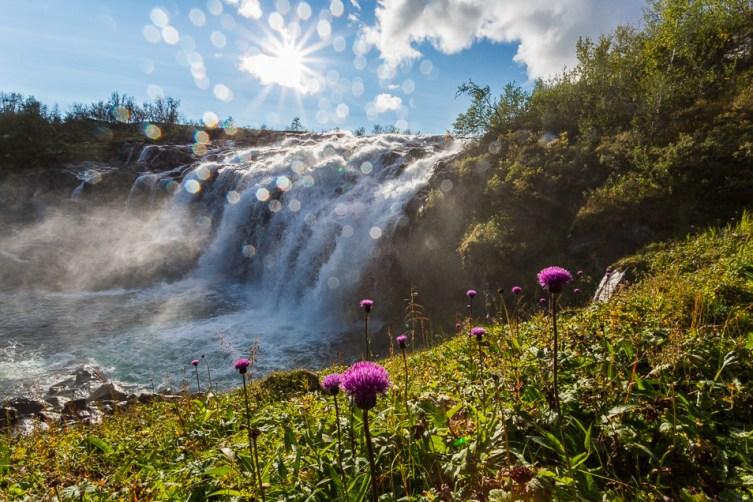 Bealcánjohkas vattenfall