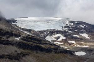En av de små glaciärerna i Dihttiriehppi